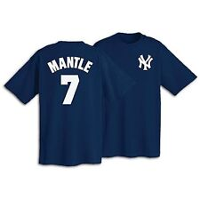 New York Yankees Mickey Mantle Majestic Official Player Name/Number T-Shirt