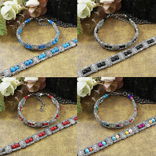 Turquoise Chain Bracelet Colorful New More Rows  Beads  Tibetan Silver Jewelry