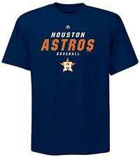 Houston Astros MLB Majestic Quasy Synthetic Mens Navy Blue Shirt Size 2XT