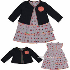 New baby girls Holiday Party dress & cardigan clothing outfit size 12 18 24 m