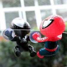 Mini Spider Man Suction Cup Doll Display Dash Car Windows Mirror Home Decoration