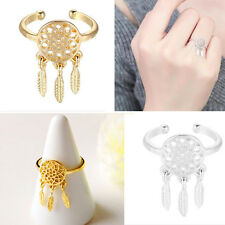 Beauty Fine Jewelry For Girls Dreamcatcher Rings for Women Feather Charm Pendant