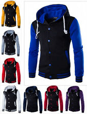 Fashion Men's Slim Fit Sweater Hoodie Cardigan Button Jacket Coat Outwear Tops b
