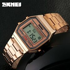 SKMEI Luxury LED Digital Wrist Watch Waterproof  Mens Dress New Ladies Xmas Gift