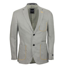 Mens Beige Unstructured Linen Blend Slim Fit Blazer Casual Designer Coat Jacket