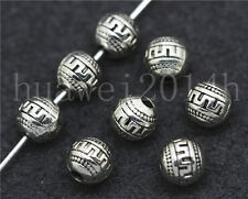 15/60/300pcs Antique Silver Beautiful spherosome Charms Spacer Beads DIY 6mm