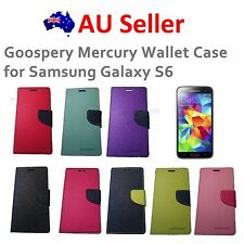 Genuine Goospery Mercury Leather Wallet Flip Case Cover for Samsung Galaxy S6