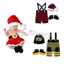 Newborn Baby Boy Girls Xmas Crochet Knit Costume Photo Photography Prop Outfit