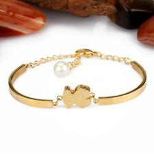 Fashion Silver Gold plated Stainless Steel lovely bear bracelet chain bangle