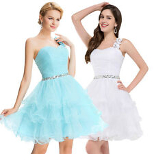 Formal Short Evening Ball Gown Party Prom Bridesmaid Dress 6 8 10 12 14 16 18 20