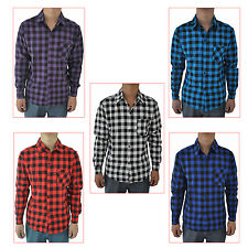 Mens Vintage Plaid Long Sleeve Shirt Slim Fit Shirts Men High Quality Shirt WS