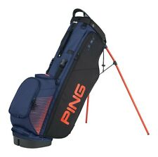 PING 4 SERIES STAND GOLF BAG -2016 - 4 WAY TOP W/ 7 POCKETS- BLACK/NAVY/ORANGE