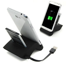 Dual Battery Charger Sync Charging Dock Cradle for Samsung Galaxy Note 2 N7100