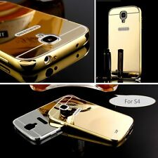 Gift Aluminum Metal Mirror Case +PC Back Cover For Samsung Galaxy note phone