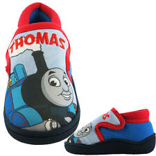 Thomas The Tank Engine Comic Boys Slippers - Blue/Red (Sizes 5,6,7,8,9,10)