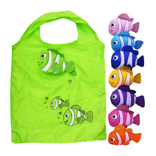 Cute Reusable Fish Folding Shopping Bag Travel Bag Grocery Bags Shopper Tote EA
