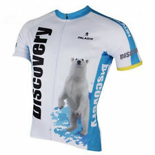 2016 Discovery Bear Cycling Clothing Bike Bicycle Short Sleeve Jersey Top White
