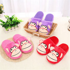 Men Women Monkey Slippers Soft Warm Plush Cotton Anti-slip House Indoor Shoes 72