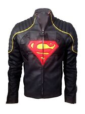Batman Vs Superman Gray & Black Combination Real Leather Jacket  - BNWT