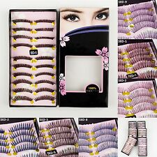 10 Pairs Fake Natural Long False Eyelashes Makeup Eye Handmade Lash Lashes 007c