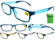 Plastic Color Reading Glasses with Etched Diamond Design
