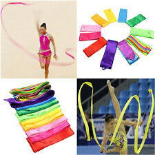 4M Dance Ribbon Rhythmic Art Gymnastic Ballet Streamer Twirling Rod 7 Color Sale