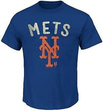 New York Mets MLB Favorite Pitch Mens Royal Blue Shirt Size XLT