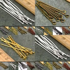 Hot 20mm,30mm,40mm,50mm,Eye Pin Flat Head Pin Ball Pin Jewelry Finding Craft DIY