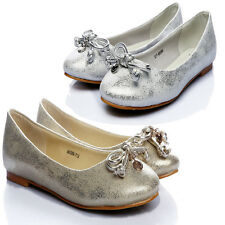 Hot Ladies Comfy Bow Leather Flats Womens Ballerina Loafers Casual Pumps Shoes