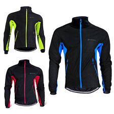 Mens Fleece Thermal Winter Windstopper Cycling Bicycle Jacket Casual Coat Jersey