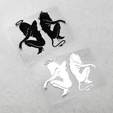 Reflective Funny Sexy Angle & Devil Girl Vinyl Car Motorcycle Decal Stickers