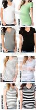 A PEA IN THE POD SHORT SLEEVE V-NECK SIDE RUCHED MATERNITY TEE MSRP $45.00