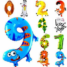1PC Animal Number Foil Inflatable Balloons Wedding Birthday Parties Decoration's