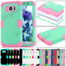 Samsung Galaxy S7 & Note 5 Hybrid Heavy Duty Silicone Shockproof Hard Case Cover
