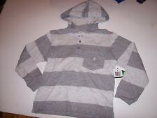 NEW LRG Lifted Research Group long sleeve hoodie shirt boys gray stripe sz 5