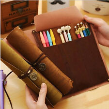 Sightly Pirate Treasure Map Rollup PU Leather Pen Pencil Case Bag Makeup Holder