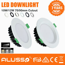 white/ Satin Chrome Dimmable 10W,13W &18W SMD LED Downlight Kit Downlights IP44