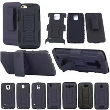 Rubber Rugge Armor Belt Holster Hybrid Holder Hard Clip Case For Mobile Phones