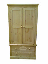HANDMADE SOLID PINE CHORLEY WARDROBE FULLY ASSEMBLED STAIN OR LACQUER