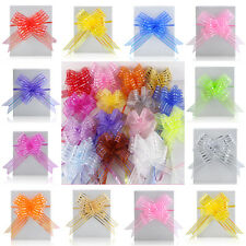 10pcs Organza Ribbons Pull Large Butterfly Bows Wedding Car Decoration Gift Wrap