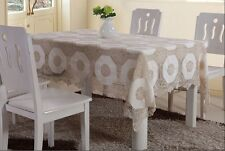 100% Cotton Hand Crochet Lace Joint Table Cloth, Table Runner, Duvet set & more