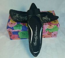 Black Lace Flats with Bow from Beverly Feldman ~Original Retail $120~