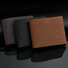 Hot Mens Leather Wallet Card Holder Coin Purse Pockets Bifold Money Clip Wallet