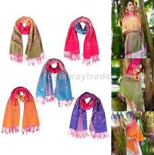 Women Warm Long Cashmere Scarf Shawl Soft Colorful Flower Tassels Pashmina Wraps
