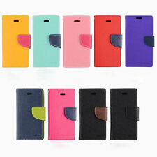 Luxury Multi Color PU Leather Flip Wallet Card  Slot Case Cover For Mobile Phone