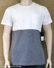 RVCA Halfway Crew Knit Tee Shirt Mens White Gray Relaxed Fit T-Shirt New NWT