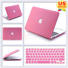 """2in1 Quicksand Pink Matte Hard Case+Keyboard Cover for MacBook Air Pro 11"""" 13"""""""