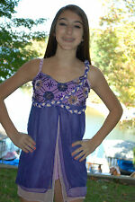 Purple custom made competition dance costume lyrical AXS  AS pageant