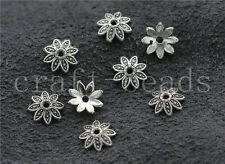 200/1000pcs Tibetan Silver Flower Bead Caps Charms Beads Cap Jewelry DIY 7mm