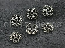 200/1000pcs Tibetan Silver Hollow Flower Bead Caps Charms Beads Cap 7.5mm